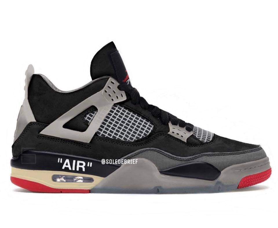 "【Off-White™ × Nike】Air Jordan 4 Retro SP ""Bred"""