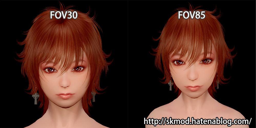 FOV30とFOV85の比較