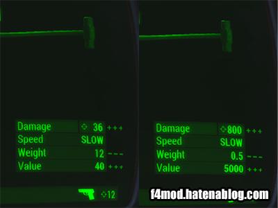 Sledgehammerのゲーム内での比較