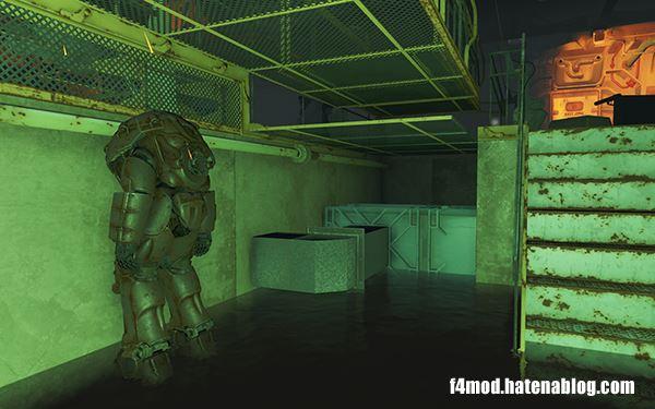 Vault111に配置されたパワーアーマー