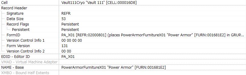 配置したオブジェクトのBase ID