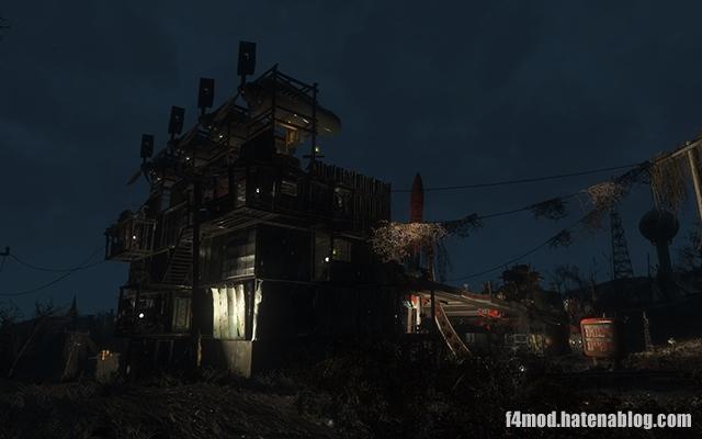 夜のレッドロケット砦
