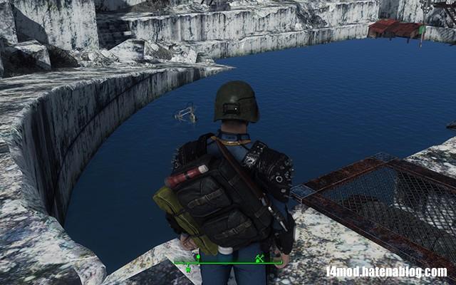 水の溜まった採掘場