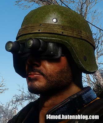 ヘルメットとゴーグルを装備した状態