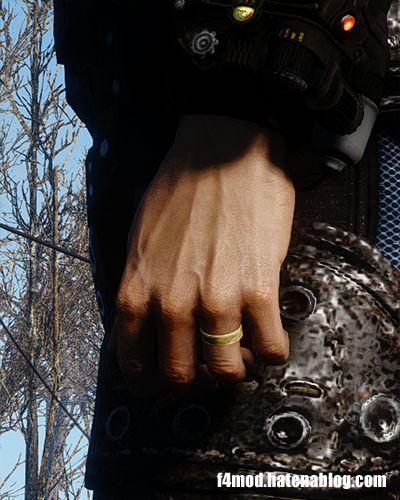 左手に表示される指輪