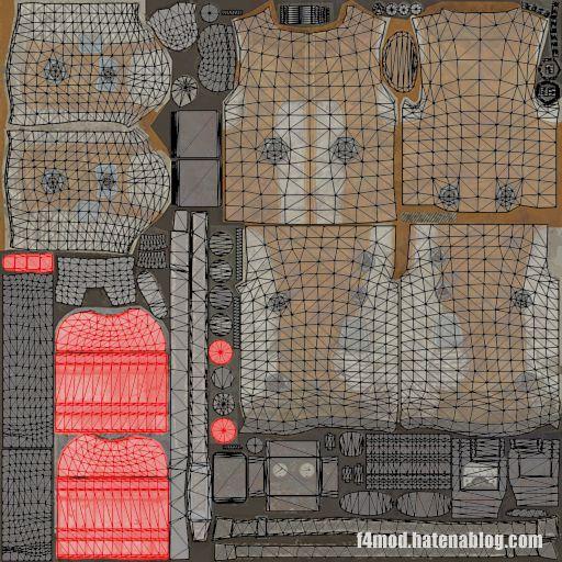 ハズマットスーツのUVマップ