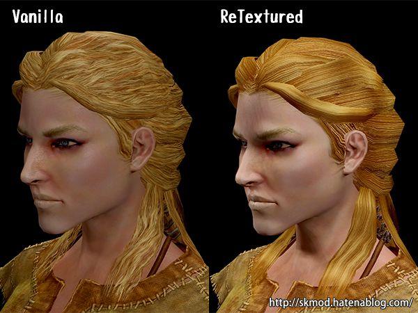 PCの髪のリテクスチャ