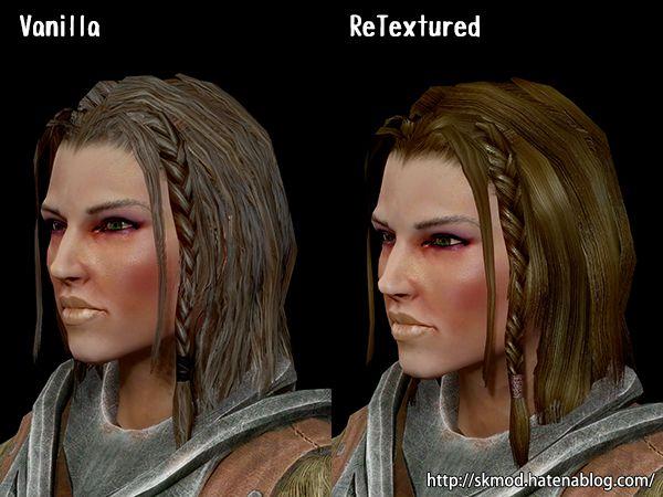 NPCの髪のリテクスチャ