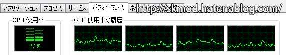 32bit版CPU負荷