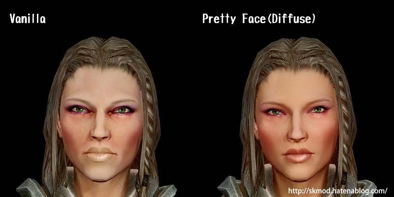 顔のディフューズマップ変更