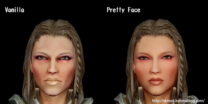 顔の顔ノーマルとスペキュラ変更