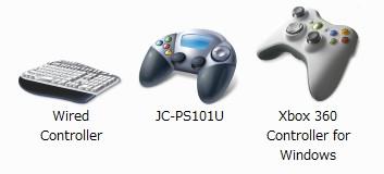 OSからの各コントローラ認識