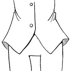 アニメシャツの裾