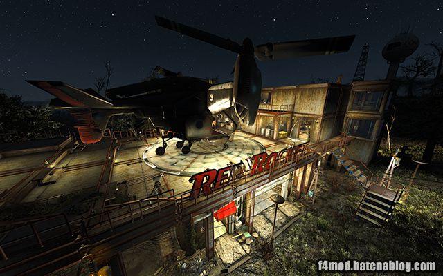 レッドロケット屋上ヘリパッド