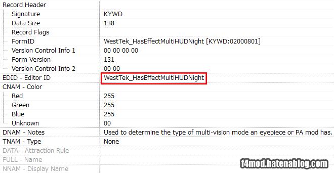 HUD/Night用Keyword