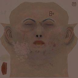 NPCの顔のディフューズマップ