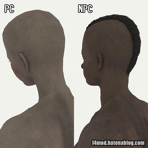 PCとNPC共に後頭部修正完了