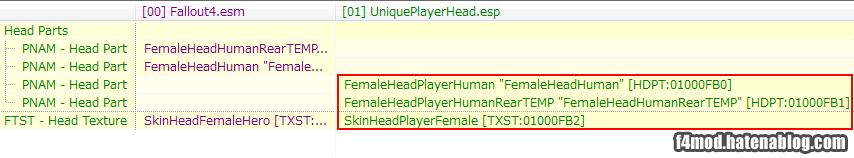 preset用NPCの変更