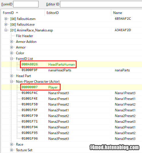 nanaRaceのバニラ改変箇所