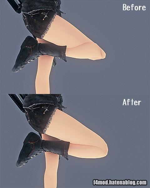 膝周りのスケルトン修正