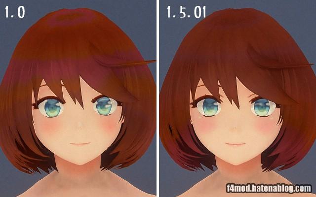 頭部の改版