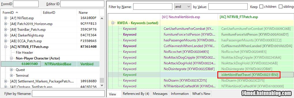 FastTravel用Keywordを常設