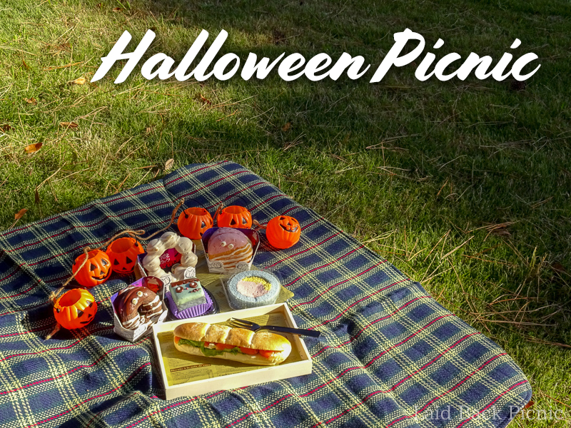 Japanese Halloween Enjoying at Picnic