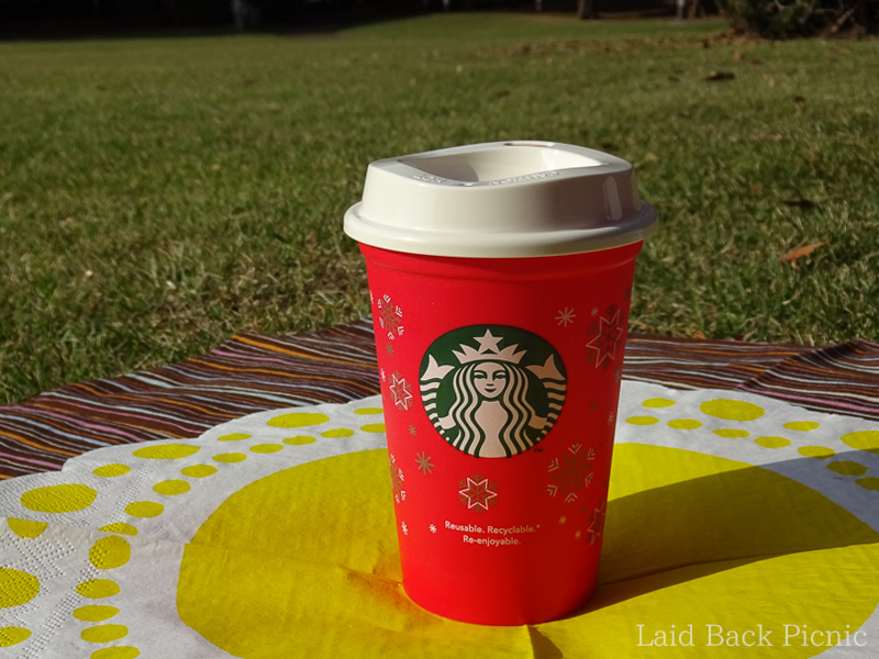 Red cup for christmas design