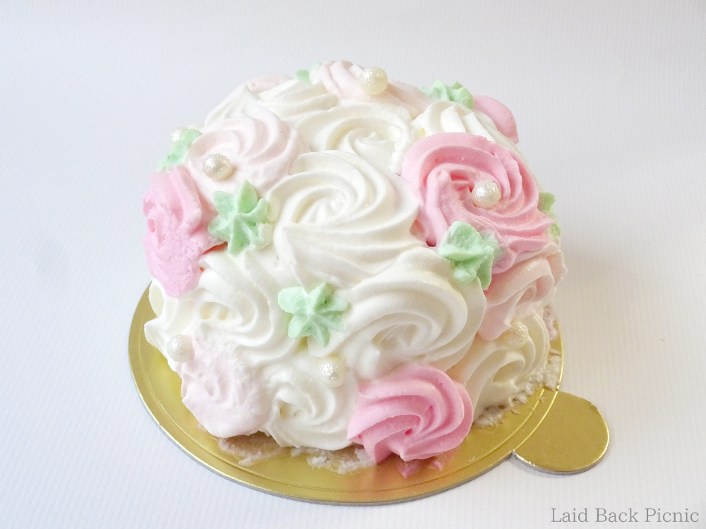 A cake decorated like a flower