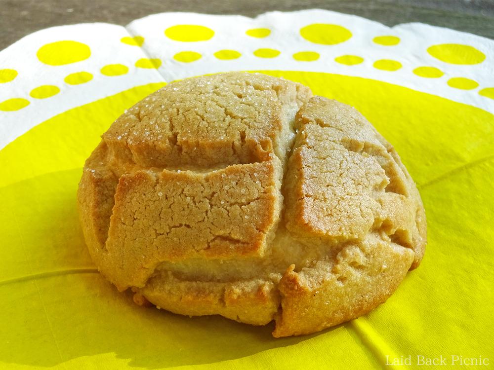 割れ目の深いメロンパン