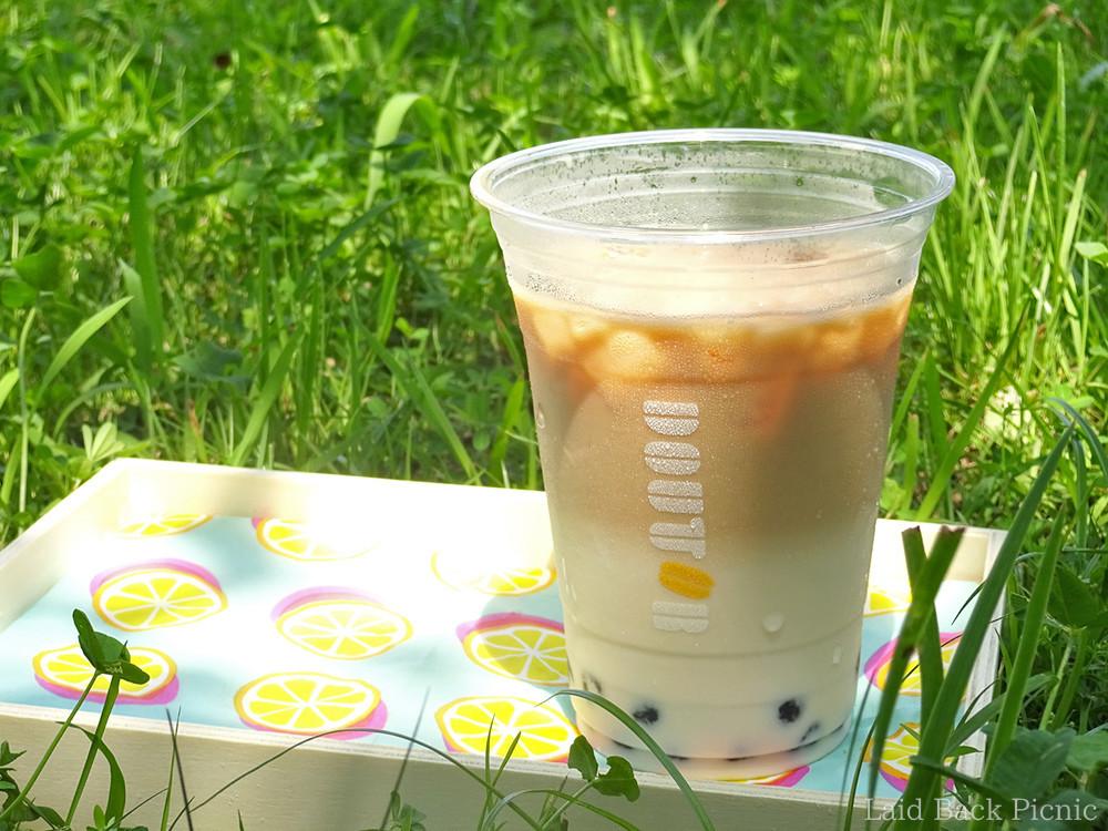 ミルクティーのお茶の色がはっきり分かる
