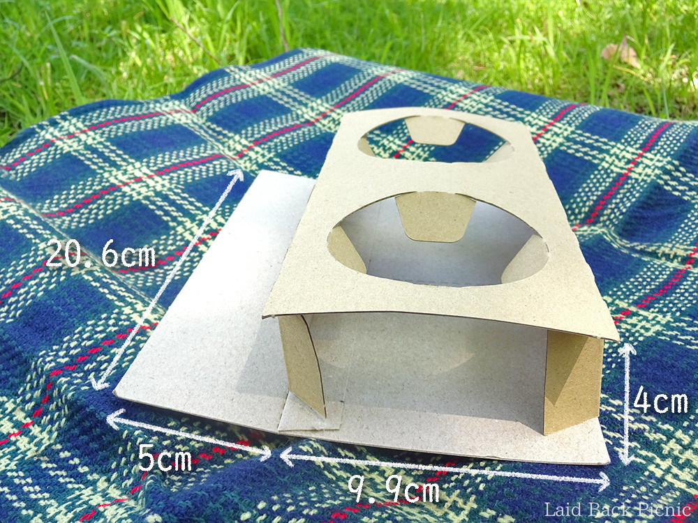 紙製のカップ2個分ホルダー