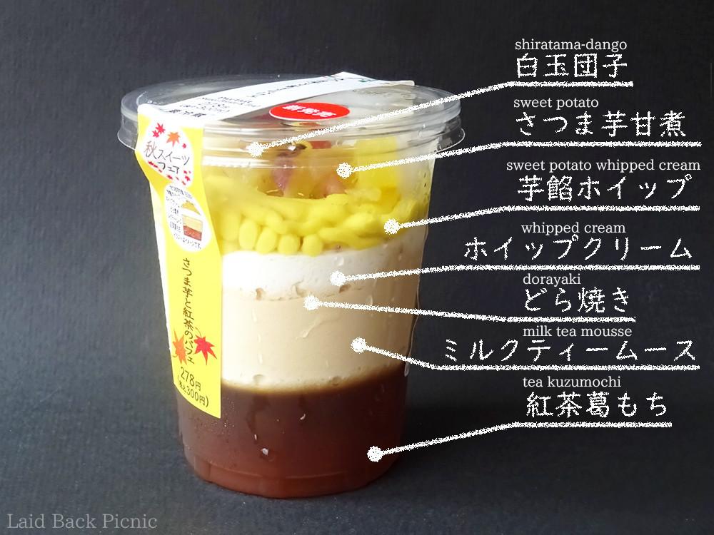 さつま芋ホイップの黄色が鮮やか