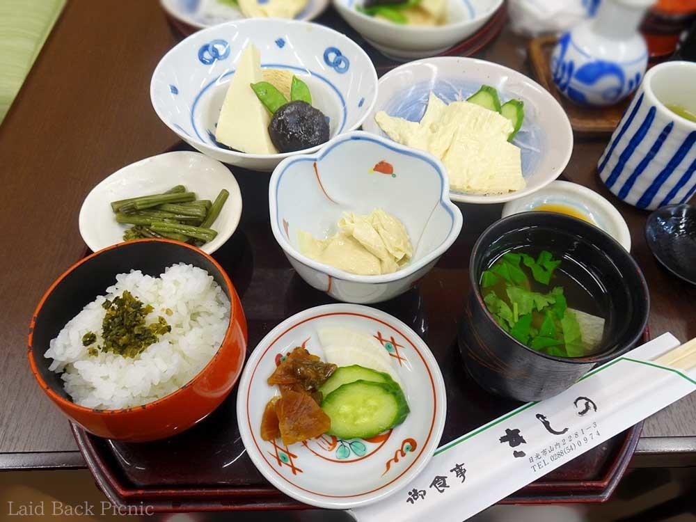 4種類の湯葉料理が楽しめる
