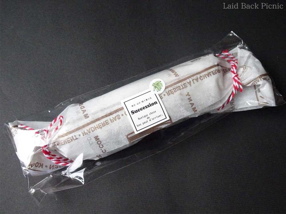 オイルペーパーをキャンディー包みした可愛いパッケージ