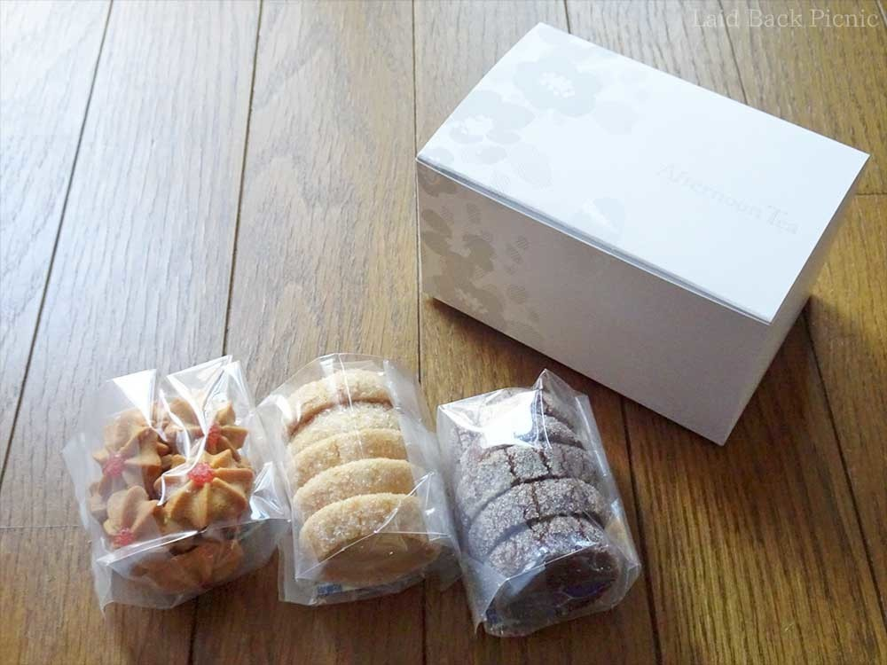 3種類のクッキー入り