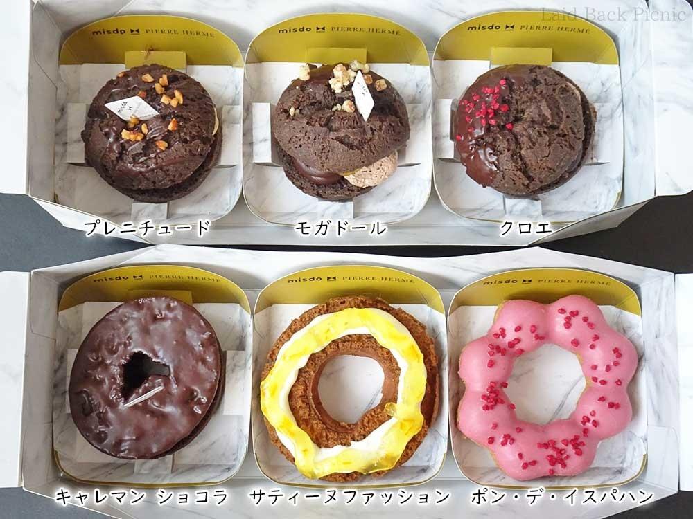 全種類のドーナツ