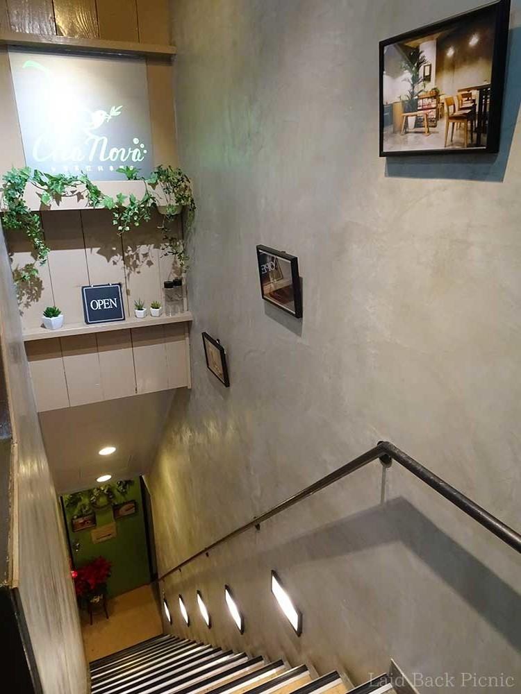手摺のついた階段