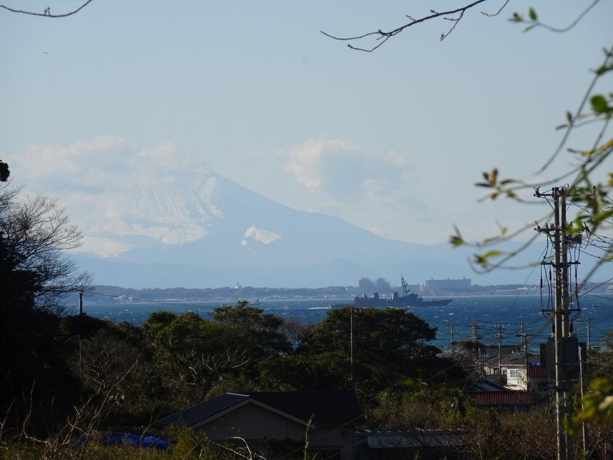 帰り道では富士山が見える