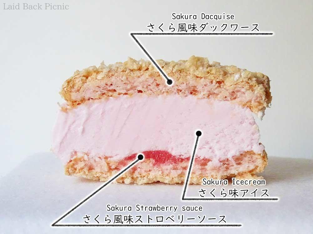 下の方にピンク色のソースが見える