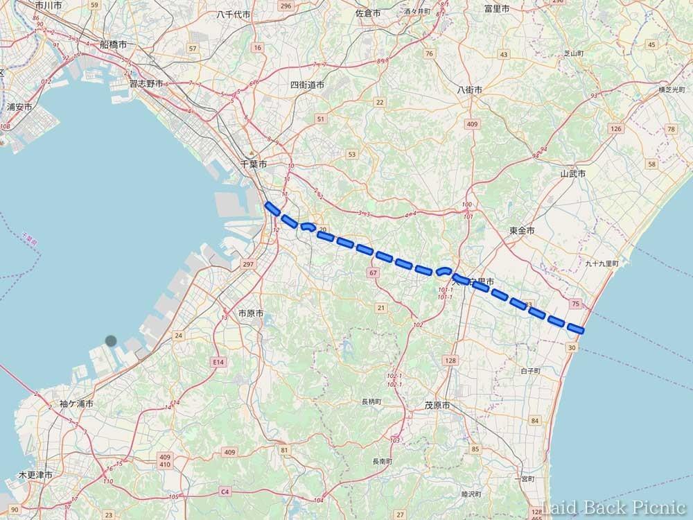 千葉県のくびれた部分を横断する計画