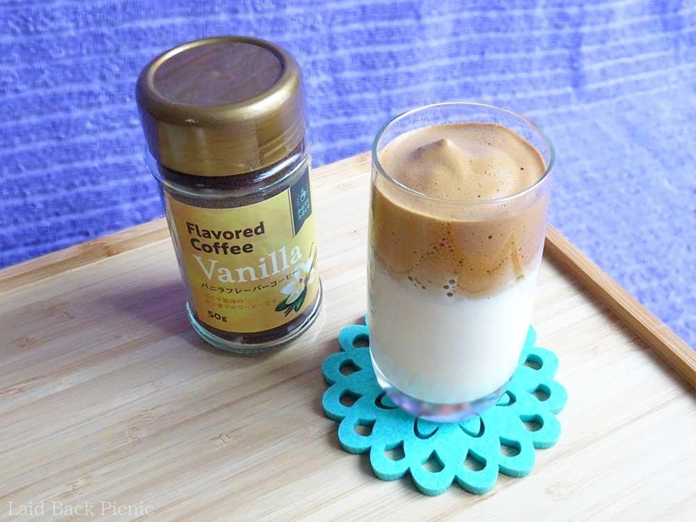 冷たい豆乳+ダルゴナコーヒー