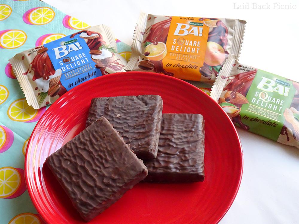 3種類のチョコレートデーツバー
