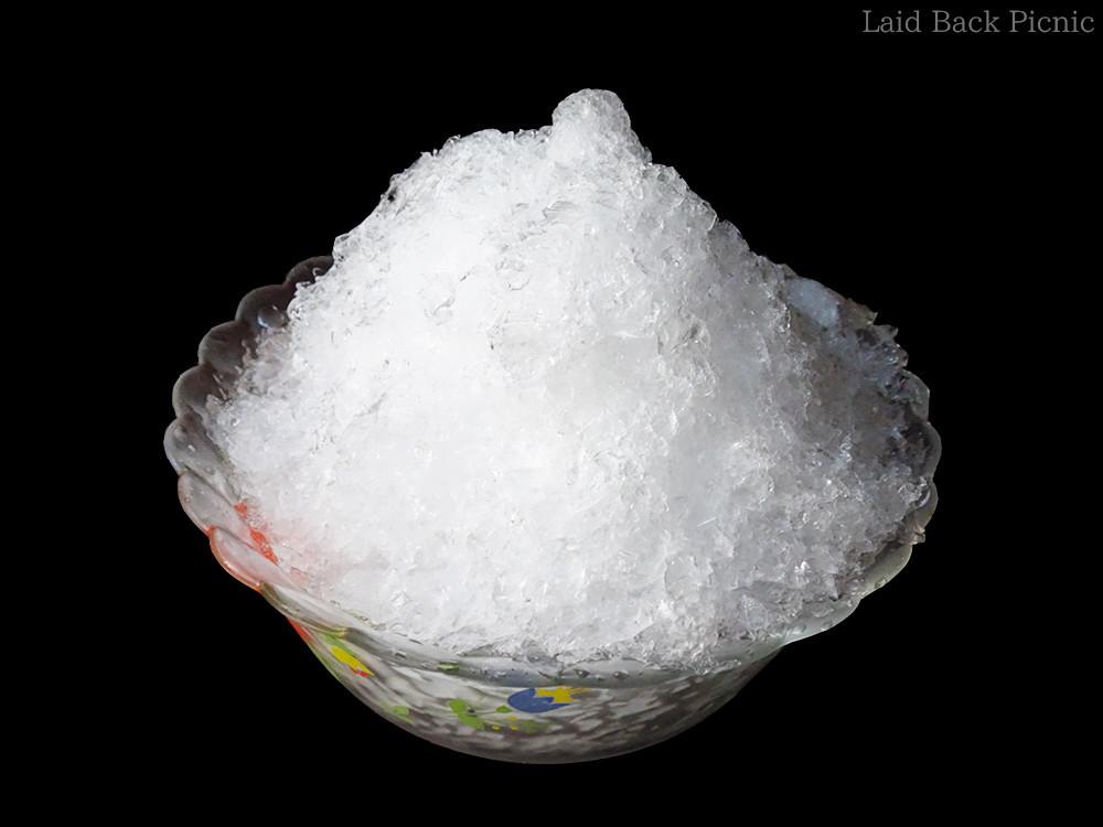 一気に削れて、見た目に氷の粒はそろっている