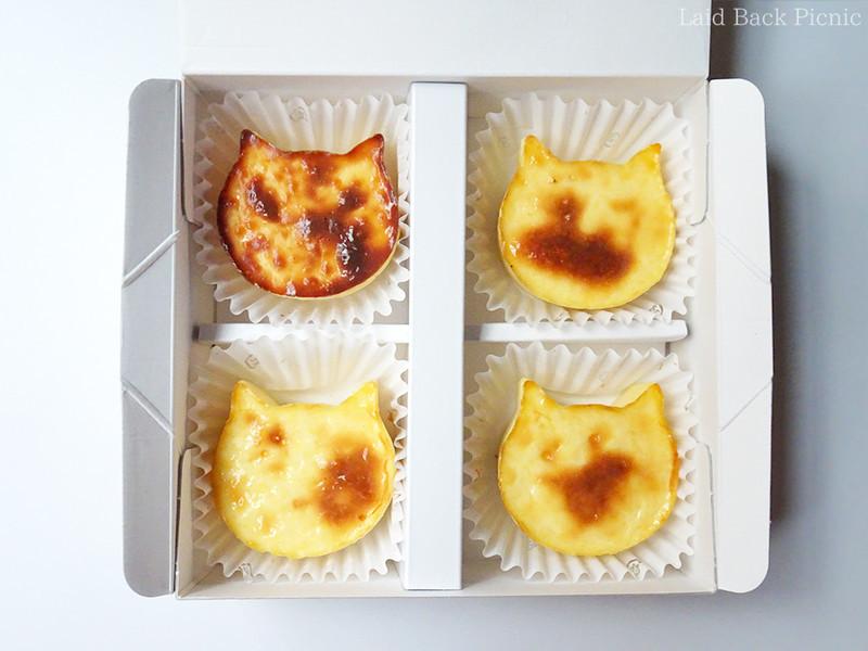 小さめのねこ型チーズケーキ4個入