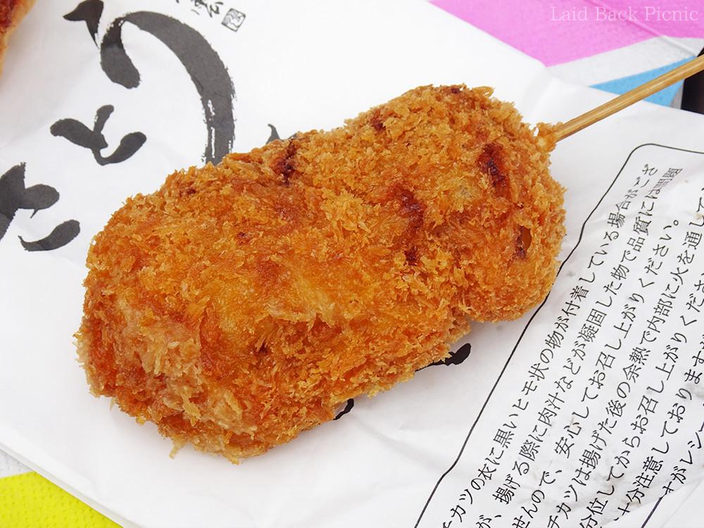 関西で食べた串カツよりも大きい