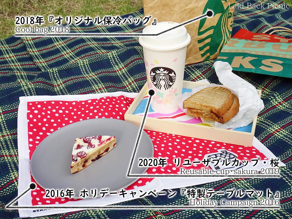 リユーザブルカップ、保冷バッグ、テーブルマット
