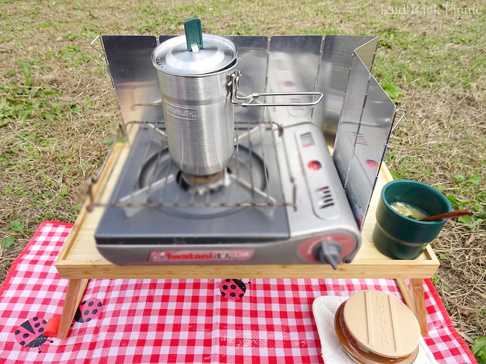 カセットコンロで簡単調理