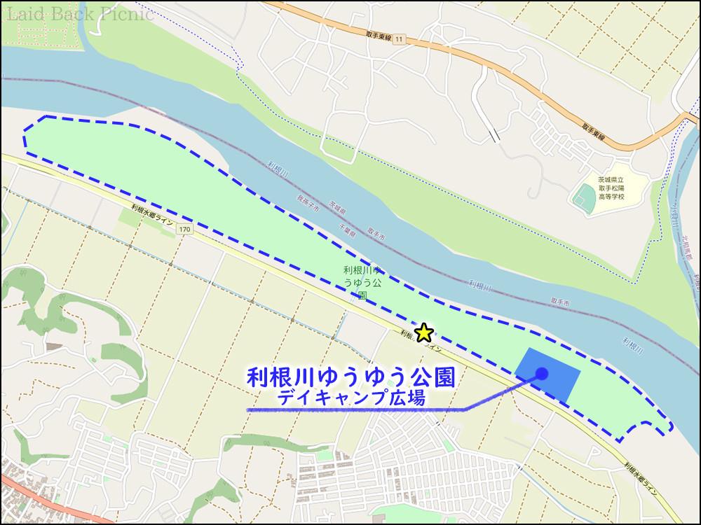 利根川河川敷を利用した広大な公園