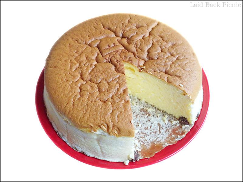 チーズケーキの断面